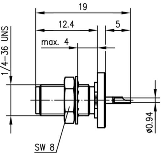 SMA-Steckverbinder Buchse, Einbau 50 Ω Telegärtner J01151A0031 1 St.