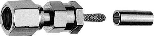 SMC-Steckverbinder Buchse, gerade 50 Ω Telegärtner J01171A0001 1 St.