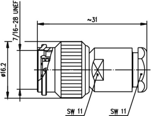TNC-Steckverbinder Stecker, gerade 75 Ω Telegärtner J01012A2258 1 St.