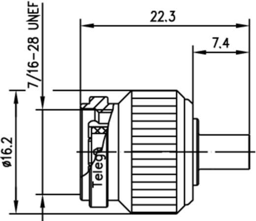 TNC-Steckverbinder Stecker, gerade 50 Ω Telegärtner J01010A0021 1 St.