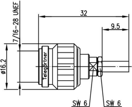 TNC-Steckverbinder Stecker, gerade 50 Ω Telegärtner J01010B0007 1 St.
