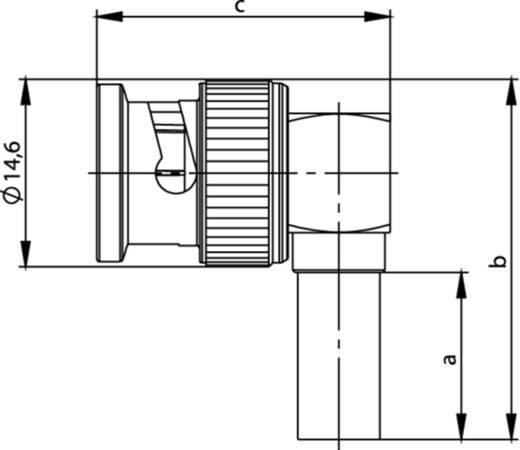 BNC-Steckverbinder Stecker, gewinkelt 75 Ω Telegärtner J01002B1356 1 St.