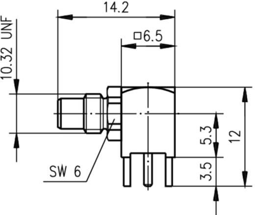 SMC-Steckverbinder Printstecker, gewinkelt 50 Ω Telegärtner J01170A0101 1 St.