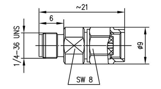 Koax-Adapter SMA-Buchse - SMA-Reverse-Stecker Telegärtner J01155R0095 1 St.