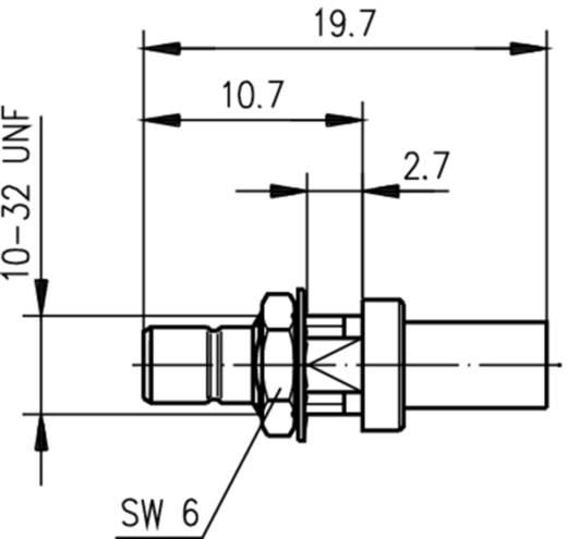 SMB-Steckverbinder Stecker, Einbau 50 Ω Telegärtner J01160A0399 1 St.