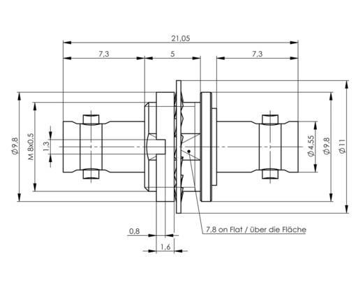 BNC-Durchführung BNC-Buchse - BNC-Buchse Telegärtner J01293A0001 1 St.