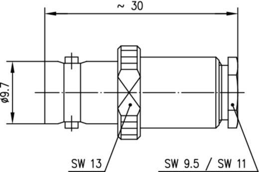 BNC-Steckverbinder Buchse, gerade 50 Ω Telegärtner J01001A0032 1 St.
