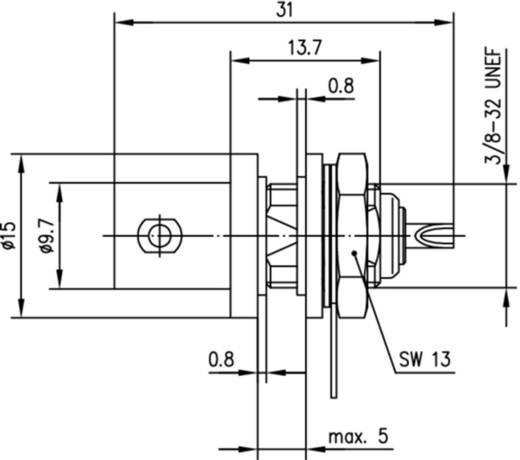 BNC-Steckverbinder Buchse, Einbau 75 Ω Telegärtner J01003D1286 1 St.