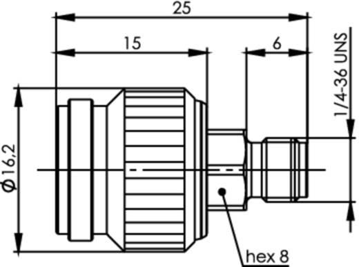 Koax-Adapter TNC-Stecker - SMA-Buchse Telegärtner J01019A0032 1 St.