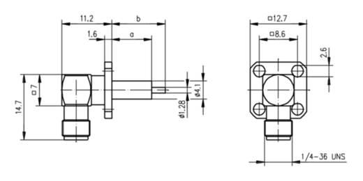 SMA-Steckverbinder Buchse, Einbau horizontal 50 Ω Telegärtner J01151A1141 1 St.