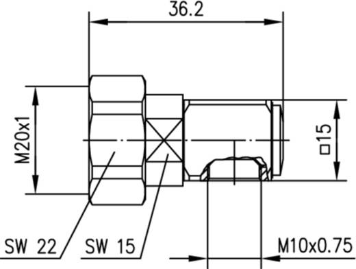Normkopfstecker Telegärtner J01100A1207 1 St.