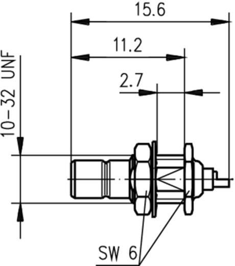 SMB-Steckverbinder Stecker, Einbau 50 Ω Telegärtner J01160A0031 1 St.