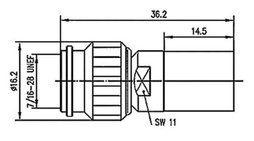 TNC-Steckverbinder Stecker, gerade 50 Ω Telegärtner J01010A0051 1 St.