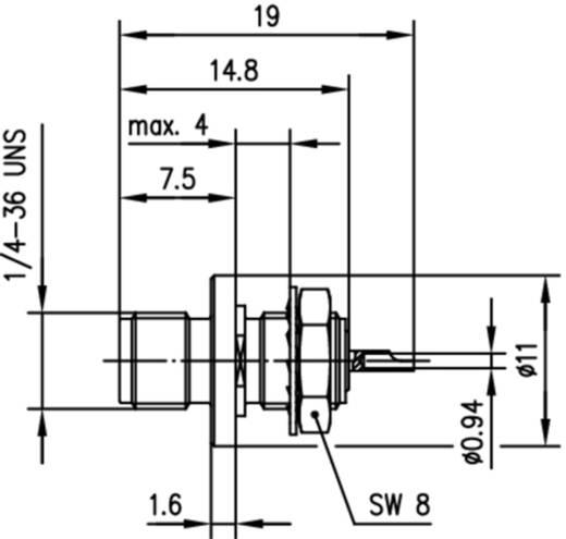 SMA-Steckverbinder Buchse, Einbau 50 Ω Telegärtner J01151A1081 1 St.