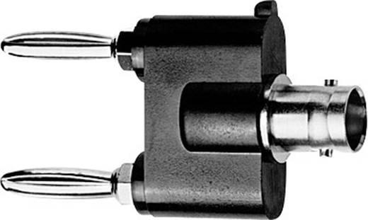Messadapter BNC-Buchse - Lamellenstecker 4 mm, Lamellenstecker 4 mm Telegärtner J01008A0620 Schwarz, Silber