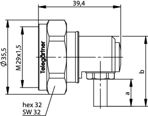 7-16-DIN-Steckverbinder Stecker, gewinkelt 50 Ω Telegärtner J01120C0010 1 St.