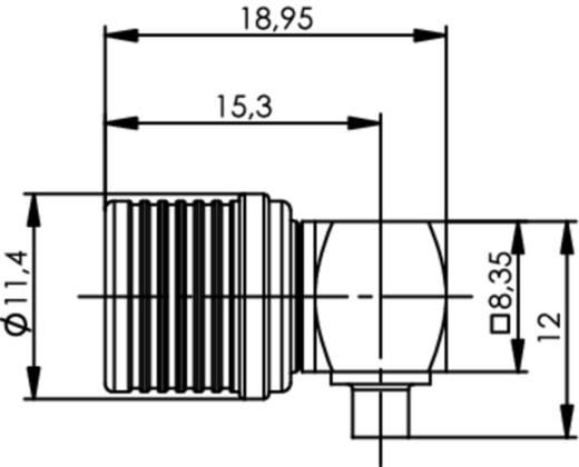 QLS-Steckverbinder Stecker, gewinkelt 50 Ω Telegärtner J01420A0125 1 St.