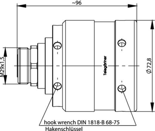 7-16-DIN-Steckverbinder Buchse, gerade 50 Ω Telegärtner J01121A0174 1 St.