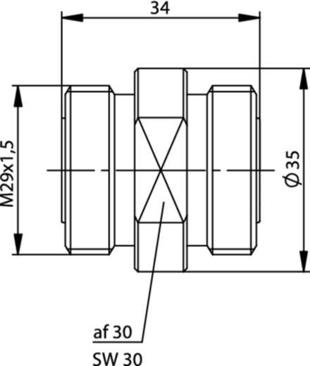 HF-Adapter 7-16-DIN-Buchse - 7-16-DIN-Buchse Telegärtner 1 St.