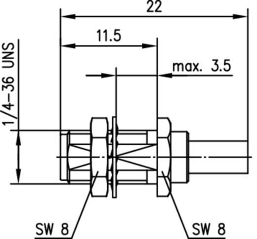SMA-Steckverbinder Buchse, Einbau 50 Ω Telegärtner J01151A0671 1 St.