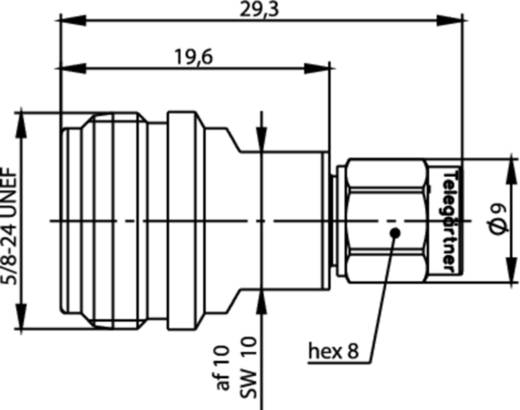 Koax-Adapter N-Stecker - SMA-Stecker Telegärtner J01027T0019 1 St.