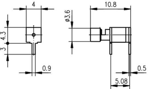 Kabeldirektanschluss Leiterplattensockel, gewinkelt Telegärtner H01000A0221 1 St.