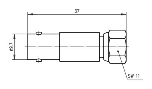 Koax-Adapter BNC-Buchse - F-Stecker Telegärtner J01008A0031 1 St.