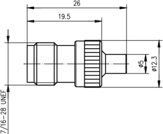 Koax-Adapter TNC-Buchse - MCX-Buchse Telegärtner J01019A0024 1 St.