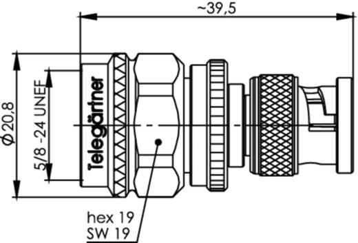 Koax-Adapter BNC-Stecker - N-Stecker Telegärtner J01008A0090 1 St.