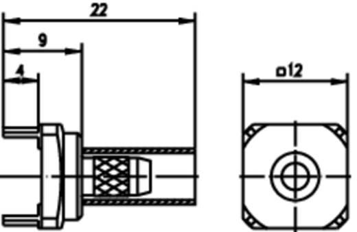 Kabeldirektanschluss Leiterplattensockel, gerade Telegärtner H01000A0287 1 St.