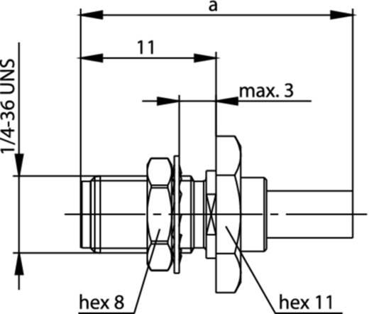 SMA-Steckverbinder Buchse, Einbau 50 Ω Telegärtner J01151A1091 1 St.