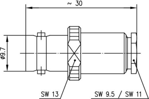 BNC-Steckverbinder Buchse, gerade 50 Ω Telegärtner J01001A1226 1 St.