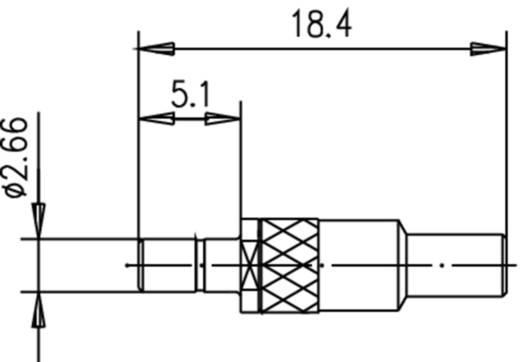 SSMB-Stecker Stecker, gerade 50 Ω Telegärtner J01190A0051 1 St.