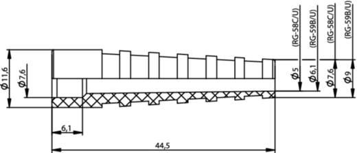 Kabeltülle Telegärtner B00081G1289 Silber-Grau 1 St.