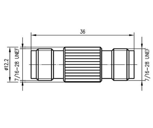 TNC-Adapter TNC-Buchse - TNC-Buchse Telegärtner J01014A2618 1 St.