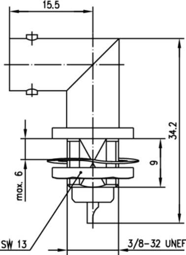 BNC-Steckverbinder Buchse, Einbau vertikal 50 Ω Telegärtner J01001A1235 1 St.