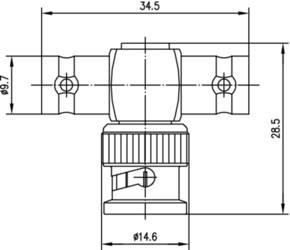 BNC-Adapter Zeichnung Weiß
