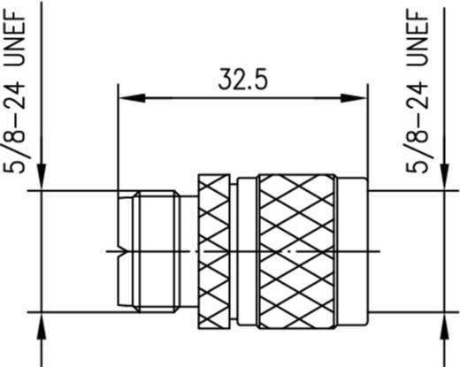 Koax-Adapter UHF-Buchse - N-Stecker Telegärtner J01043A0832 1 St.