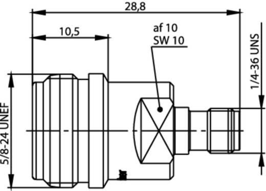 Koax-Adapter N-Buchse - SMA-Buchse Telegärtner J01027T0017 1 St.