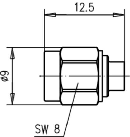 SMA-Steckverbinder Stecker, gerade 50 Ω Telegärtner J01150A0121 1 St.