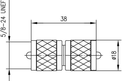 BNC-Adapter UHF-Buchse - UHF-Buchse Telegärtner 1 St.