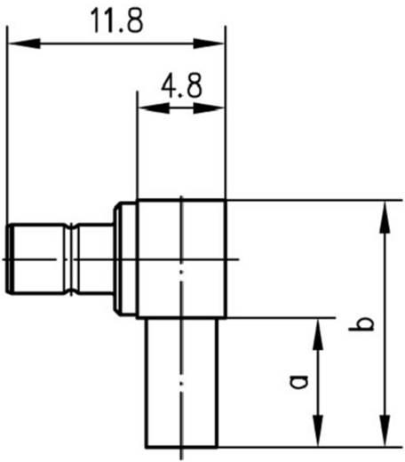 SMB-Steckverbinder Stecker, gewinkelt 50 Ω Telegärtner J01160A0531 1 St.