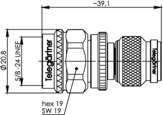 Koax-Adapter TNC-Stecker - N-Stecker Telegärtner J01019A0031 1 St.