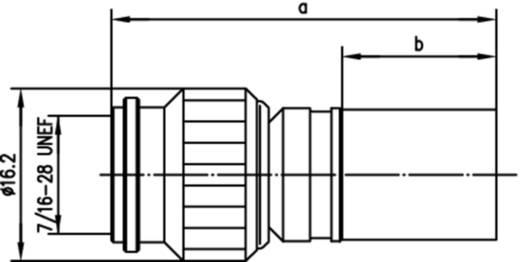 TNC-Reverse-Steckverbinder Stecker, gerade 50 Ω Telegärtner J01010R0009 1 St.