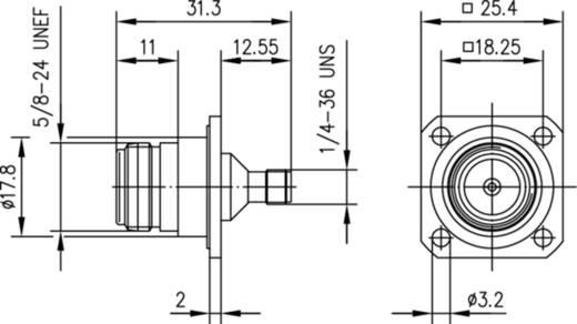 Koax-Adapter N-Buchse - SMA-Buchse Telegärtner J01027B0008 1 St.