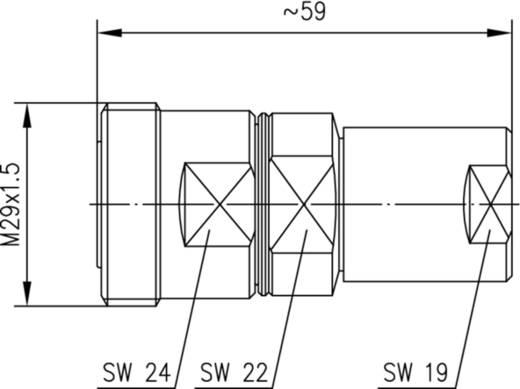 7-16-DIN-Steckverbinder Buchse, gerade 50 Ω Telegärtner J01121A0043 1 St.