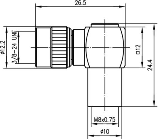 Koax-Adapter Mini-UHF-Stecker - FME-Stecker Telegärtner J01048A0002 1 St.