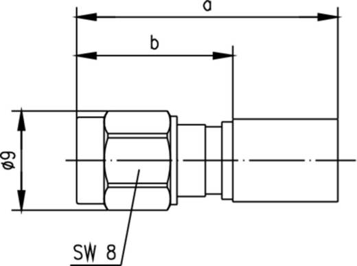 SMA-Steckverbinder Stecker, gerade 50 Ω Telegärtner J01150A0641 1 St.
