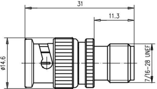 Koax-Adapter BNC-Stecker - TNC-Buchse Telegärtner J01008B0010 1 St.