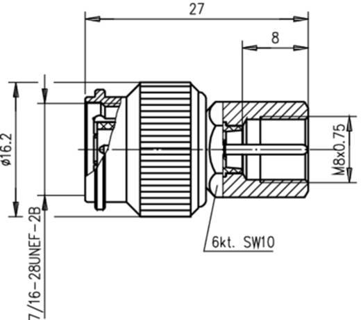 Koax-Adapter TNC-Stecker - FME-Stecker Telegärtner J01019A0004 1 St.